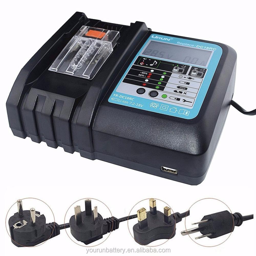 Lithium Akku Ladegerät Für Makita 14.4V-18V DC18RA DC18RC BL1845 BL1860 DHL