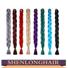 Large Stock Wholesale Synthetic Hair Bulk 41 inches 165 Grams Synthetic Jumbo Braiding Hair