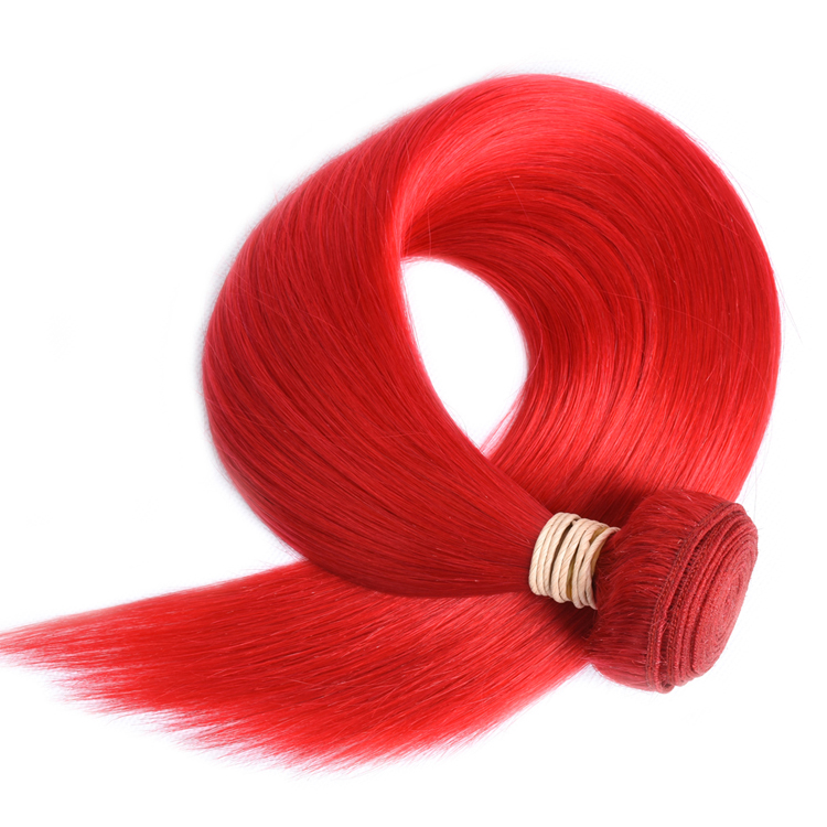 Red Brazilian Straight Human Hair Bundles With Lace Closure 100Gram Per Bundle 100% Human Hair Weaves Bundles Closures фото