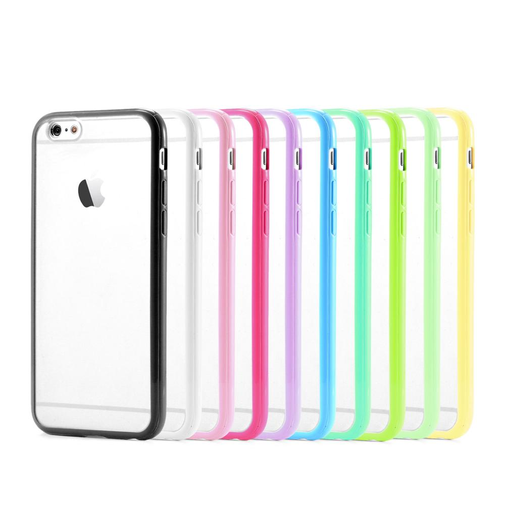 the best attitude 95ae3 8328a New Silicone TPU + PC Matte Clear Back Mobile Phone Accessories bumper  Cover for Apple bumper for iphone 6 Plus 5.5″
