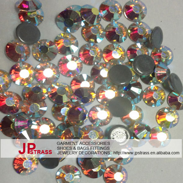 shiny grade austrian crystal ab stones with full set color and size hot fix rhinestone