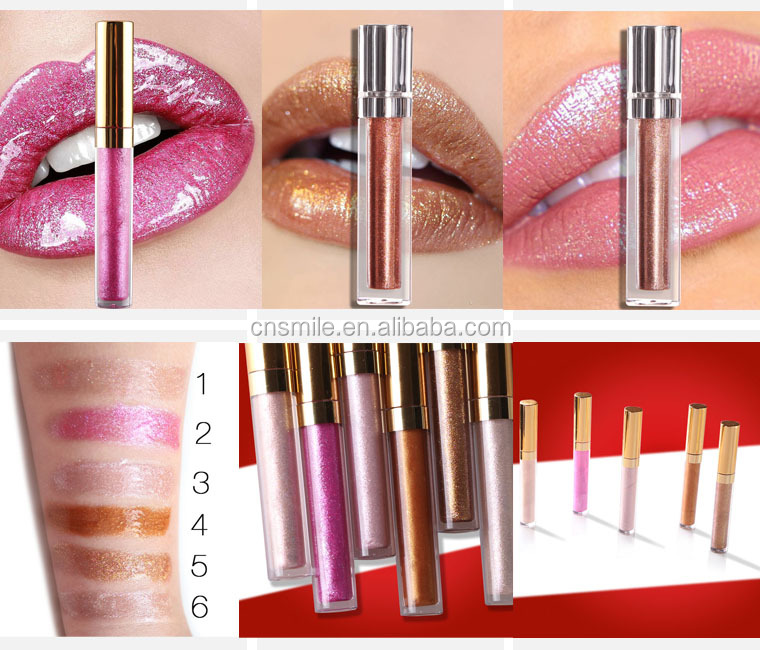 Lipstick manufacturers wholesale unbranded make your own cosmetics metallic shimmering golden lipstick