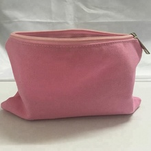 Custom color 빈 키 빈 canvas pouch zipper 메이 컵 pink cosmetic bag 와 personalized logo printing