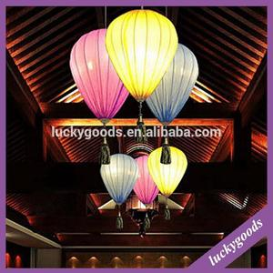 XK127 hotel restaurant decor hanging fabric lantern in balloon shape