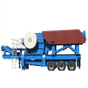 Low p rice mobile stone crusher with hopper ,vibraiting feeder jaw crusher