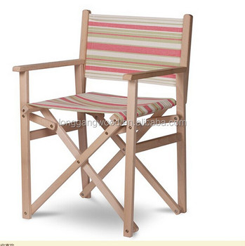 Directors Chair Teak Outdoor Canvas Chair, Canvas Director Chair