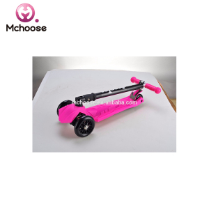 21st Hot Sale New product 4 Wheels 120 mm and 80mm Folding Kids Kick Scooter with PU flashing 3 wheels/Alloy Foot Scooters for c