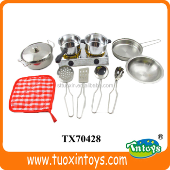 Kids Cooking Mini Gas Stove Stainless Steel Kitchen Set Toy Buy