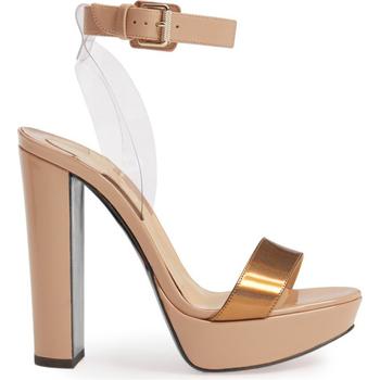 77fc734629 Most popular transparent belted ankle strap ladies 13 high heel platform  sandals