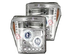 RECON 264272CL - 11-12 Ford Super Duty; Projector Headlights; Clear