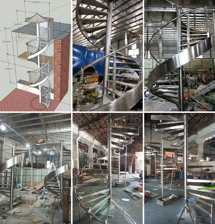 Staal massief houten loopvlakken trap geprefabriceerde rechte trappen moderne trappen ontwerp indoor