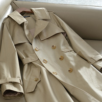 Double-breasted Women Trench Coats belt replacement coat rain trench coat women