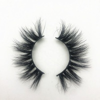 2019 Hot Sale 100% Real Mink Fur Custom Package Box 15mm, 25mm, 28mm High Quality 5D Eyelashes