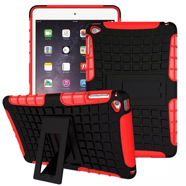 Shenzhen Supplier Hybrid Kickstand case for Apple iPad Mini 4 , for ipad mini shockproof case