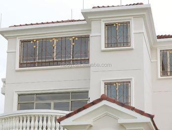 Moderne Stahl Sicherheit Fenstergitter Eisen Fenstergitter Design