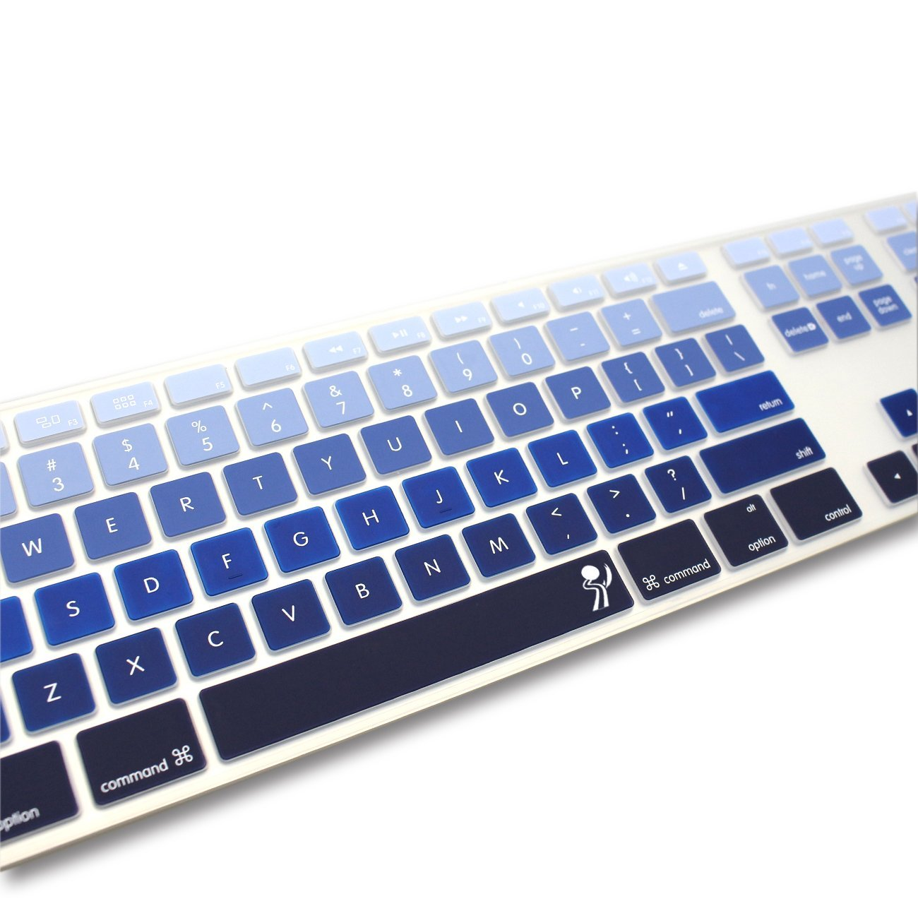 ProElife Silicone Full Size Ultra Thin keyboard Cover Skin for Apple Keyboard MB110LL//B with Numeric Keypad Wired USB for iMac Numeric Keypad, Fade in-Purple