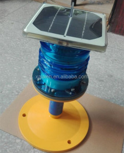 solar airport taxiway light blue signal beacon