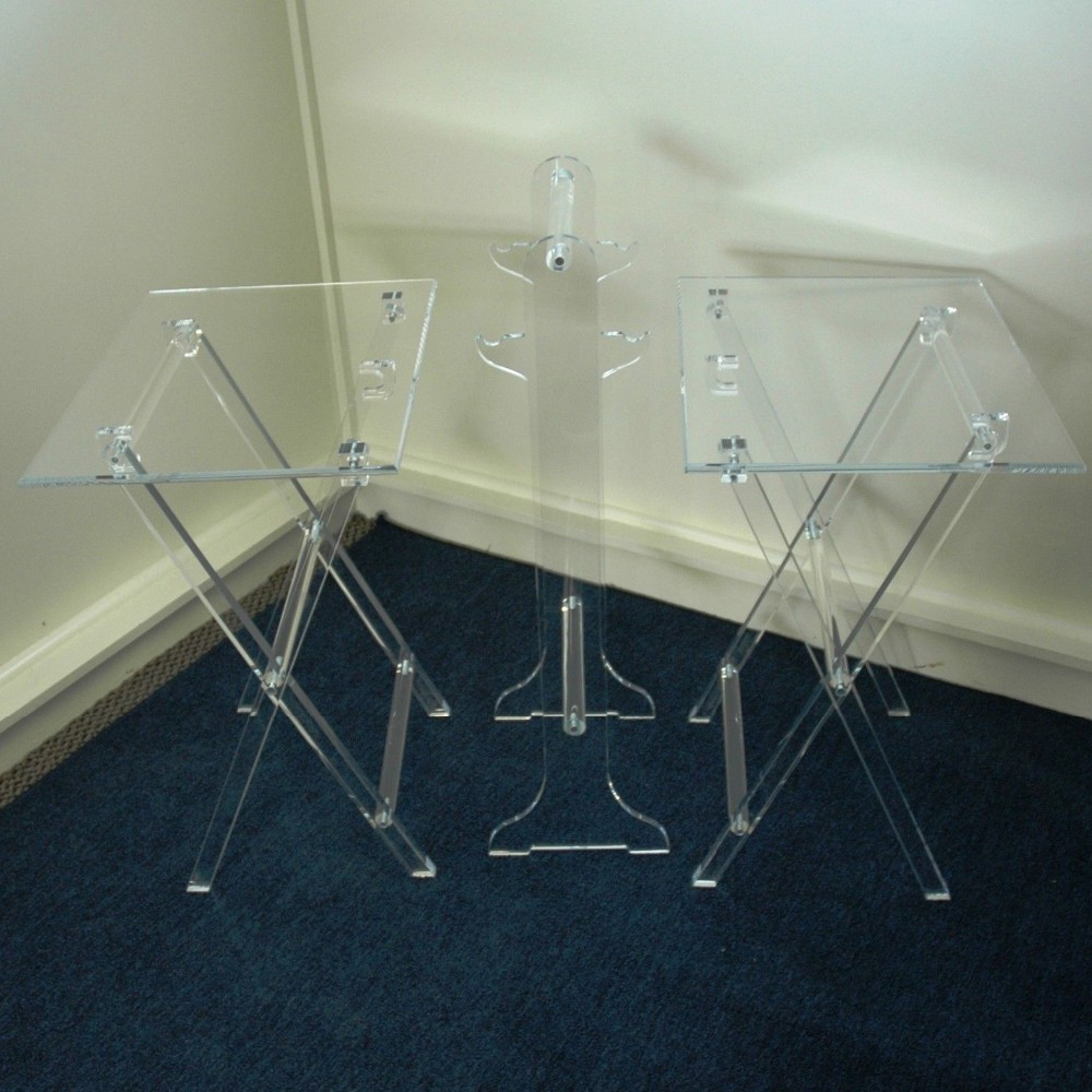 Clear Acrylic Folding TV Tray Table TV Stand, Snack Tray Snack Table Snack  Tray With