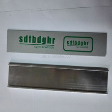 China manufacture anodized ID tags aluminium sheet logo nameplate sign