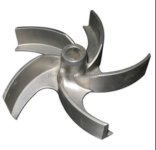 China custom precision stainless steel casting pump impeller
