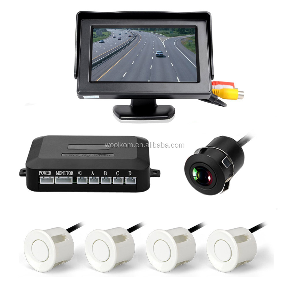 4.3 LCD Rear View Monitor Waterproof parking detector system for universal car