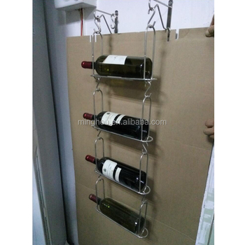 Diy Metal Decorative Wall Mounted Wine Bottle Holdersmetal Wire