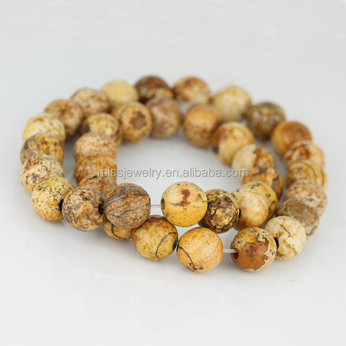 faceted round imperial DIY natural jasper beads