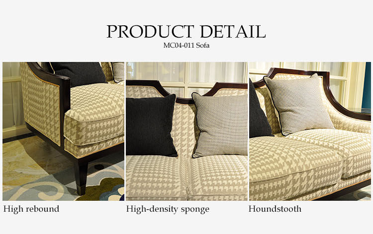 Furniture living room sofa luxury , soild wooden sofa furniture double person sofa
