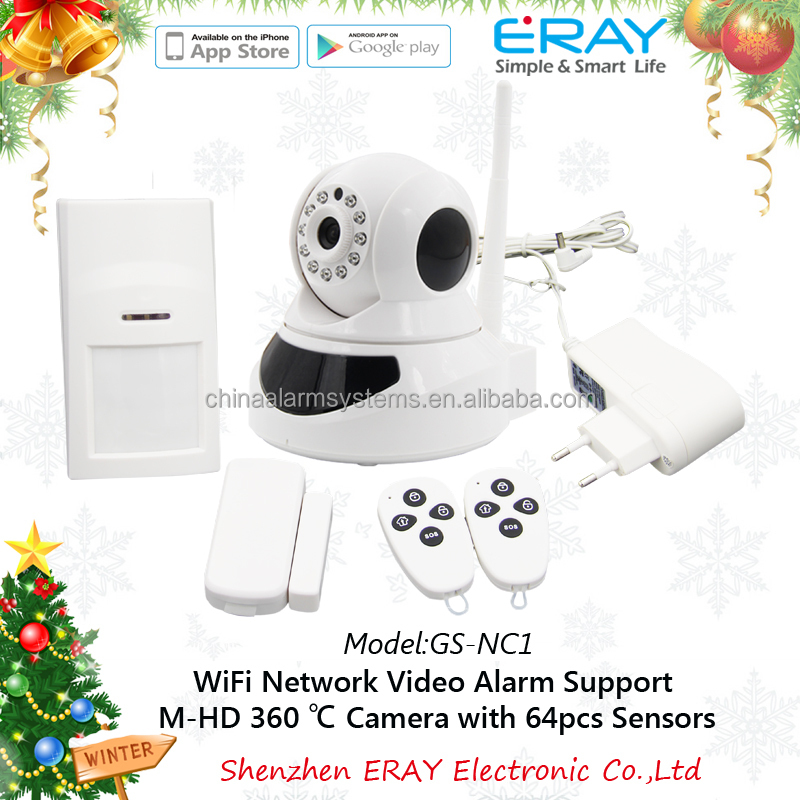WIFI alarm IP camera wifi/internet HOME IP camera alarm system