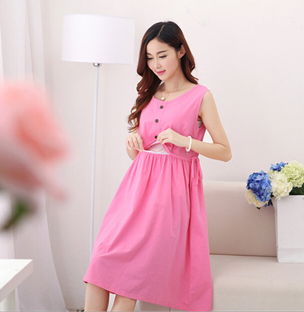 79a5cfed57aa9 d47805a 2016 summer casual fashion pregnant women dresses pure color maternity  clothes high quality nursing dress