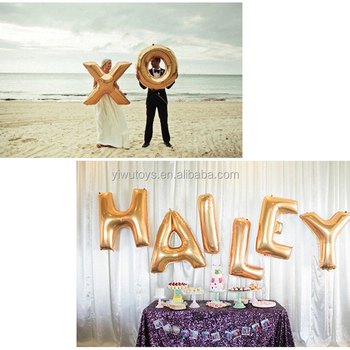 Wedding decoration inflatable mixed foil alphabet letter for Shoulder decoration 9 letters