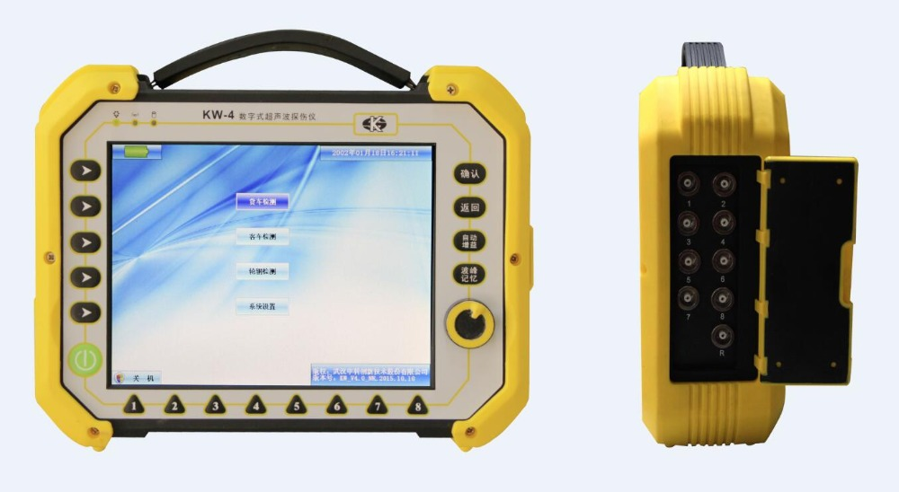 Zhongke Innovation KW-4 Portable Multi-channel Ultrasonic Flaw Detector more better than Olympus
