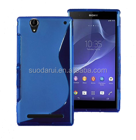 For Sony Xperia T2 Ultra XM50h TPU Gel Soft S Line Back Cover Case