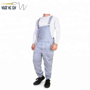 782424f1a7 Custom Work Overalls Sweatpants Mens French Terry Bib Pants Wholesale