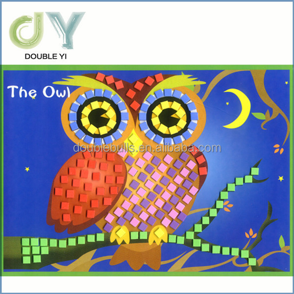 Mais barato dos desenhos animados diy eva mosaico adesivo for Mosaico adesivo 3d