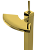 Wholesale golden finish Basin waterfall mixer Faucets for bathroom