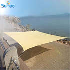 New import beige triangle or square shade sail for garden or outdoor sun shadow