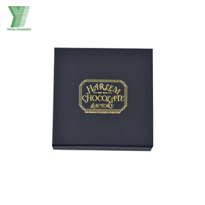 luxury food package black chocolate paper boxes with plastic insert square