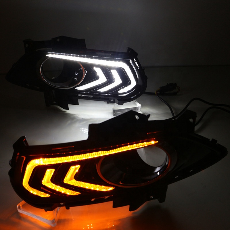 For Ford Mondeo Fusion 2013 2014 2015,With Turning Yellow Signal Relay Waterproof Car DRL 12V LED Daytime Running Light