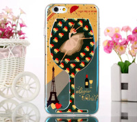 Blue ray extremely high quality IMD wine glass cup print soft tpu shell for iphone 6 4.7 inch, ODM IDM printing case for iphone