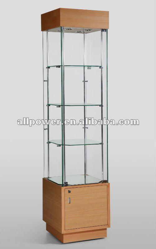 Vitrina de madera vitrina de vidrio templado y acabado - Vitrinas de madera y vidrio ...