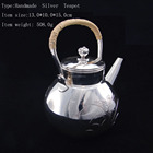 AG990 Silver Metal Teapot India Designs Heating Teapot For Gifts DR00005TP