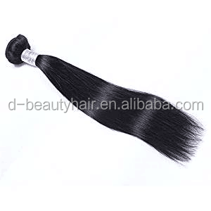 ELLSHOW Brazilian Straight Weave Human Hair Extensions Bundles Virgin Natural <strong>Black</strong>