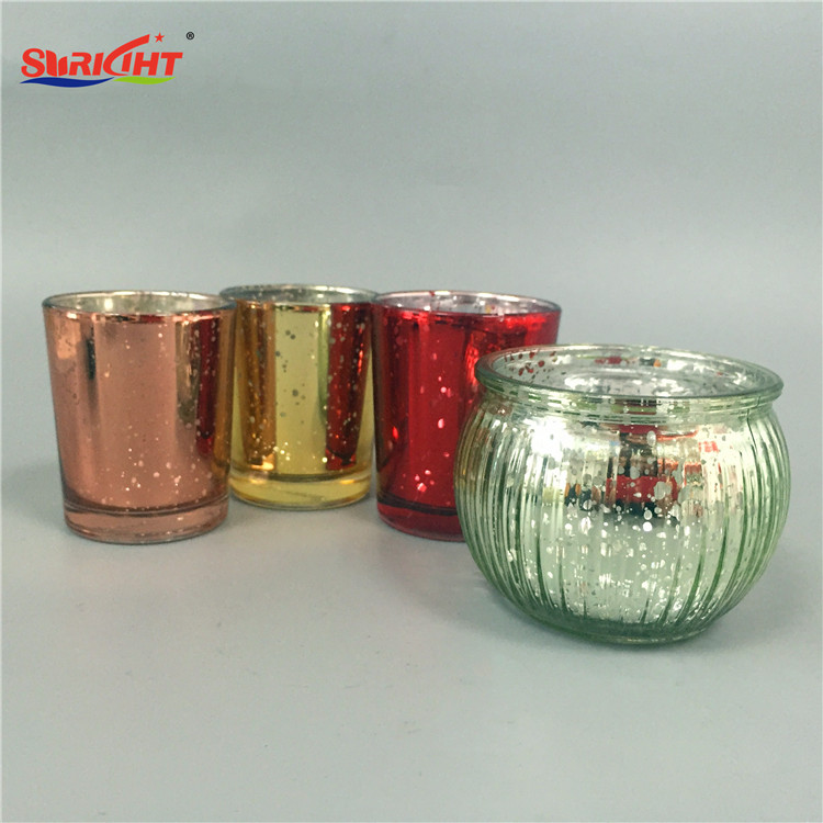 Red Colored Bulk Traditional Glass Candle Holder Photophore