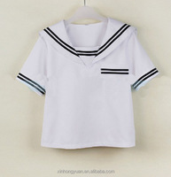 Japanese sailor high school girl short shirts for manufacture