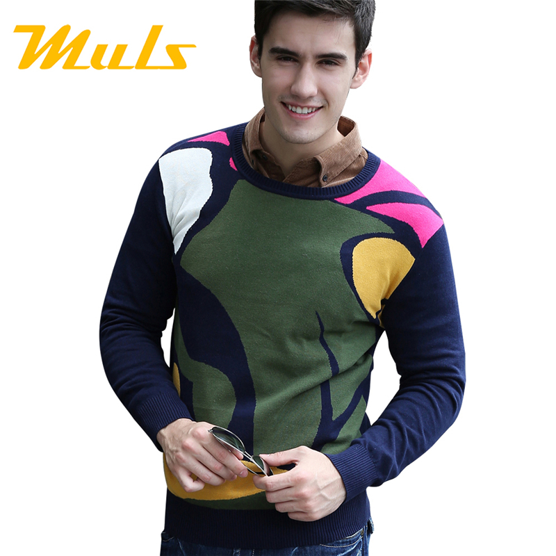 Fashion korean men polo sweater brand cashmere O-neck winter sueter masculino unique sweates pullover jumper solid 3D full wool