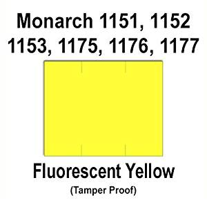 96,000 Monarch 1151 compatible Fluorescent Chartreuse General Purpose Labels to fit the Monarch 1151, 1152, 153, 1175, 1176, 1177, 1180 & 1295 Price Guns. Full Case + includes 16 ink rollers.