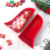 2 Pieces China Manufacturer Christmas Red Stockings Shape Porcelain Dishes Ceramic plates