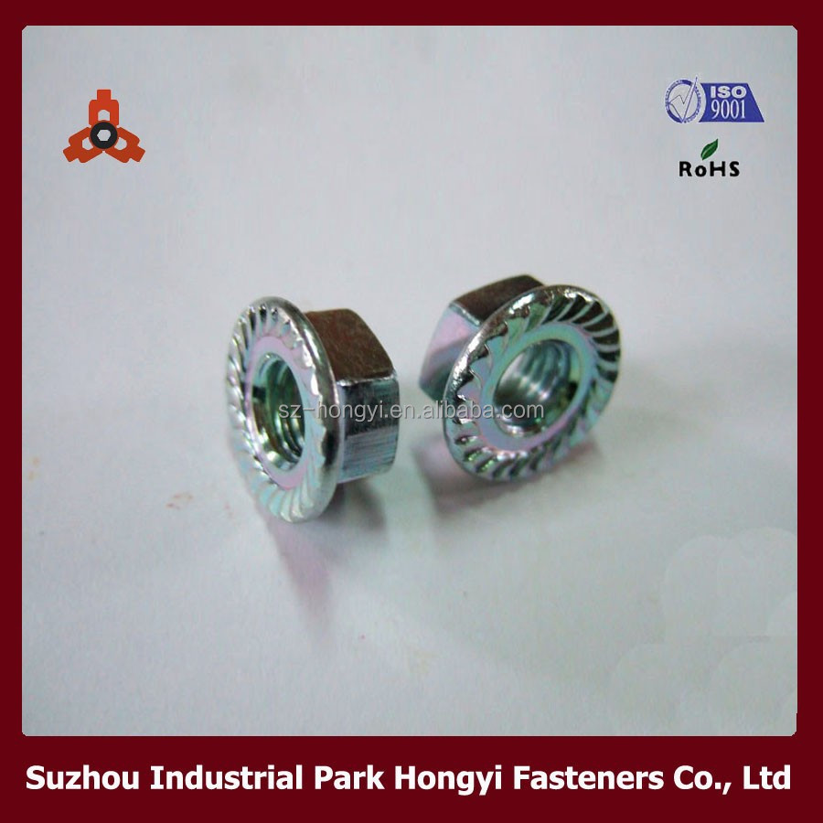 industrial flange nut/industrial hex nylock nut/industrial DIN6923 hex nuts with flange