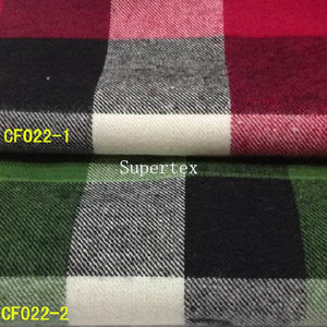 21*21 80*70 100%cotton yarn dyed flannel fabric for shirt with ready bulk